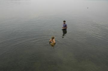 Charlotte gray lake swim.jpg