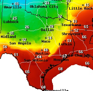 Map Of Texas Weather.Texas Weather Map Today Business Ideas 2013